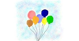 Balloon drawing by Lsk