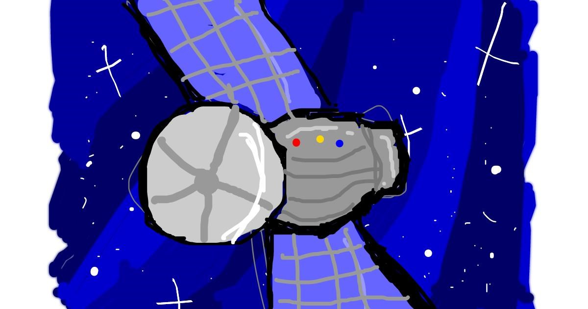 Satellite drawing by Angelica Schuyler
