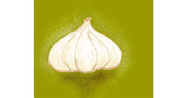 Garlic drawing by Keneisha