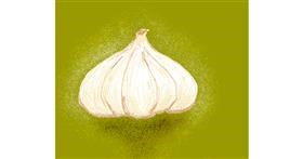 Garlic drawing by Keneisha