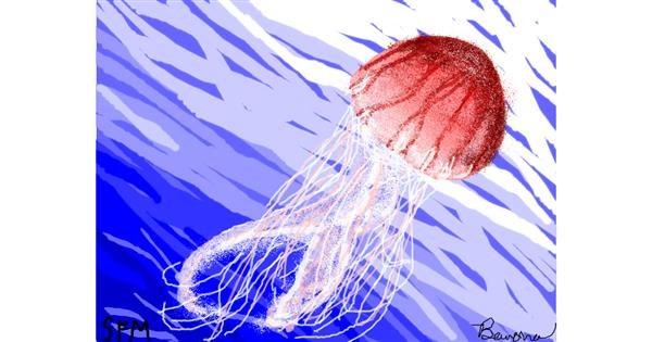 Jellyfish drawing by Banana