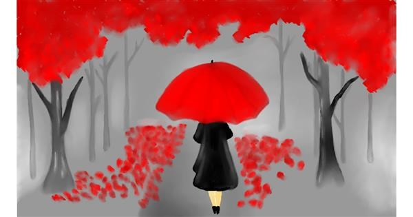 Umbrella drawing by Priscilla