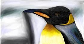 Drawing of Penguin by Soaring Sunshine