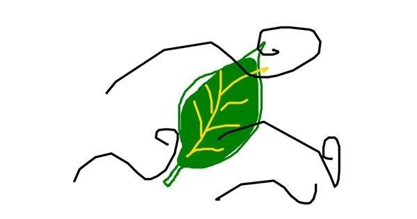 Leaf drawing by sarah