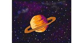 Saturn drawing by Iliana