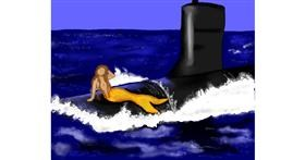 Submarine drawing by Cec