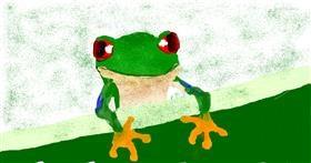 Frog drawing by Banana