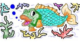 Fish drawing by Lou