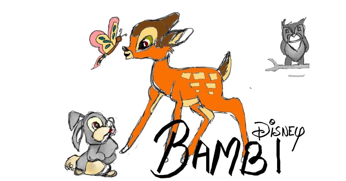 Drawing of Bambi by Reshu