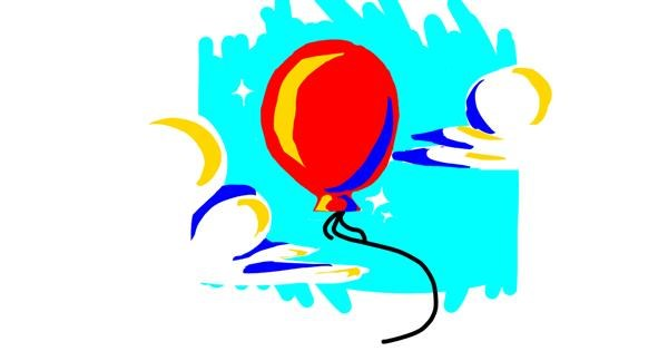 Balloon drawing by Oof