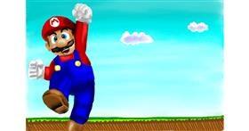 Super Mario drawing by RadiouChka