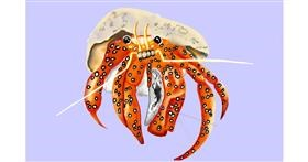 Crab drawing by GJP