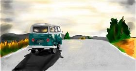 Drawing of Bus by Effulgent Emerald