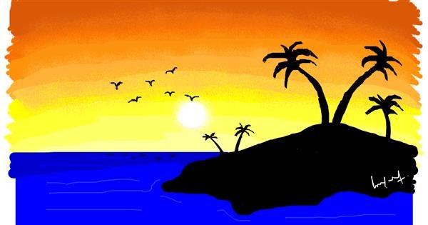 Island drawing by pajama