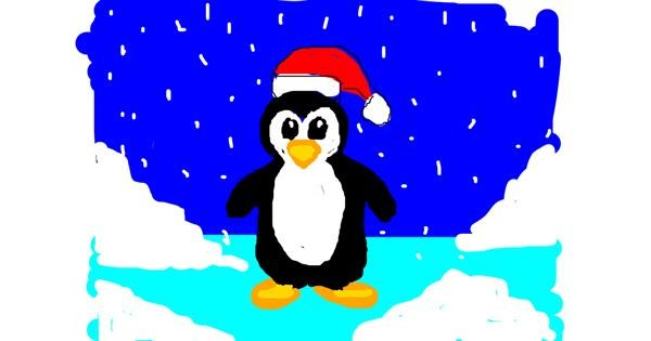 Penguin drawing by Anonymous