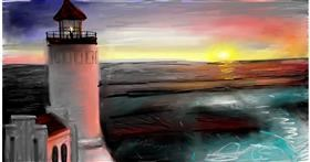 Lighthouse drawing by Soaring Sunshine