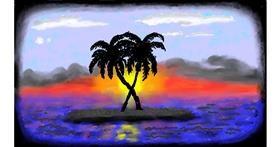 Drawing of Island by SAM AKA MARGARET 🙄