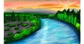 Drawing of River by Soaring Sunshine