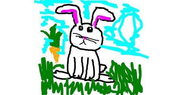 Rabbit drawing by dscwvjh