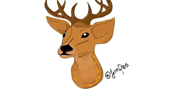 Deer drawing by Jennifreis