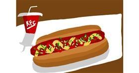 Drawing of Hotdog by 🌷ROSE 🌷