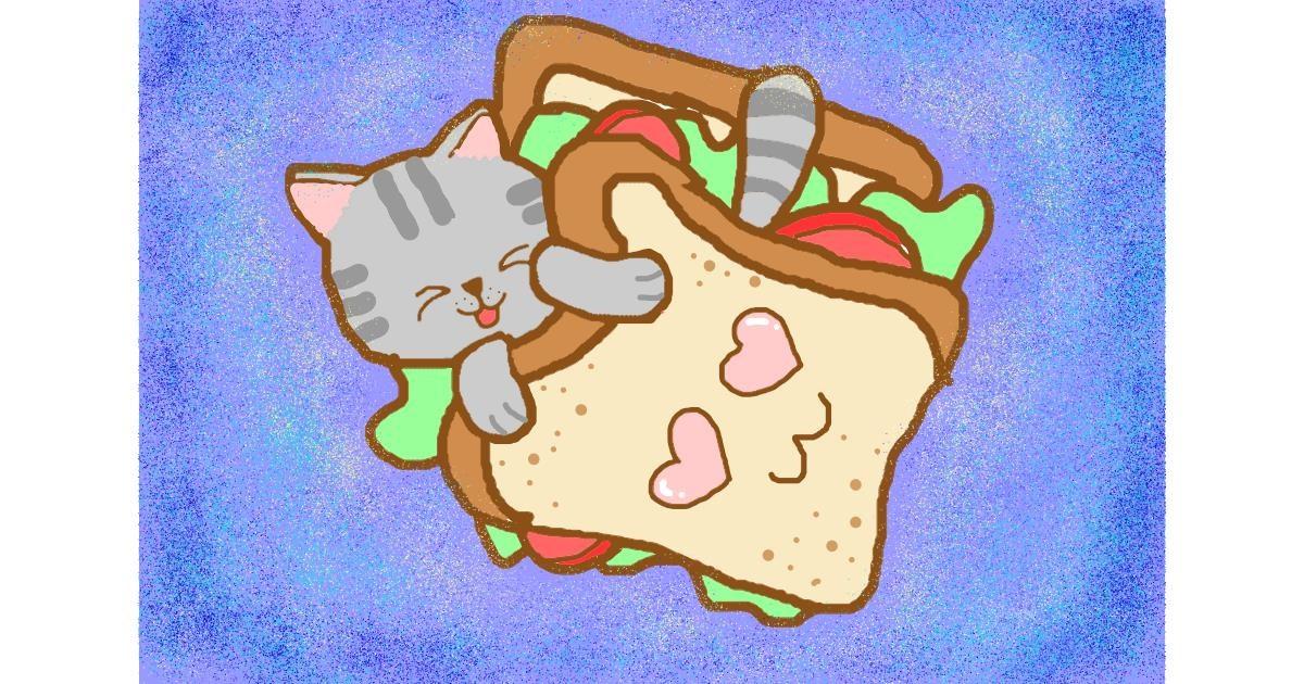 Sandwich drawing by Noe