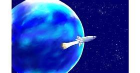 Rocket drawing by GJP