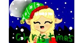 Christmas elf drawing by ᴍɪʟᴋʏ ᴡᴀʏ💙💜💙