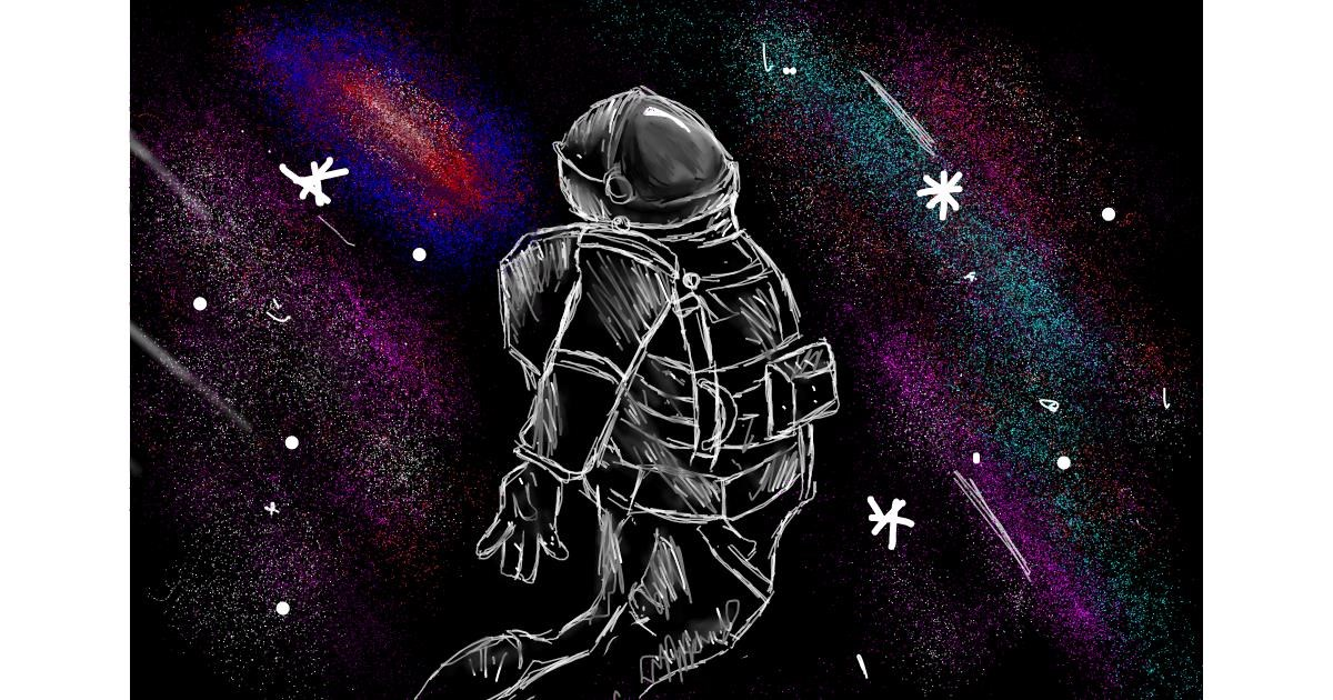 Astronaut drawing by (luna lovegood)