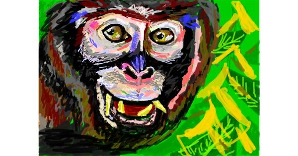 Monkey drawing by 𝐓𝐎𝐏𝑅𝑂𝐴𝐶𝐻™