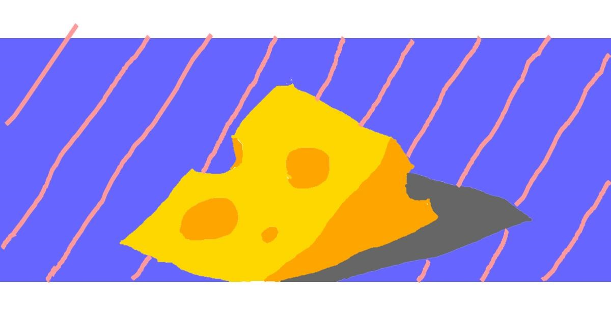 Drawing of Cheese by Man Man