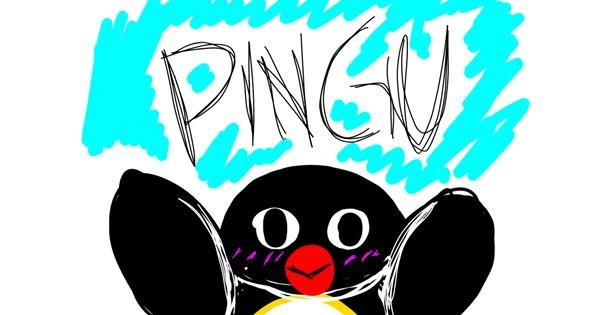 Penguin drawing by That One Llama