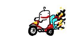Motorbike drawing by berbres