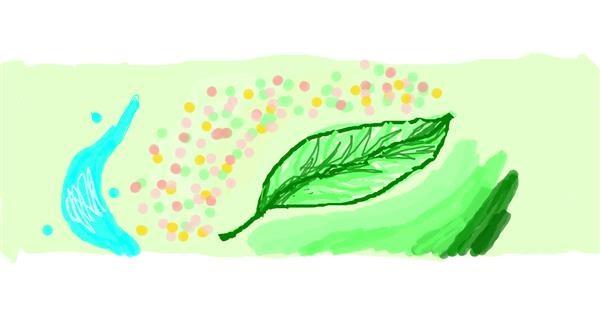 Leaf drawing by 7y3e1l1l0o§