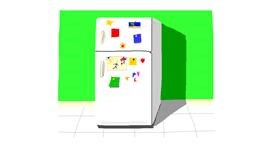 Drawing of Refrigerator by Pinky