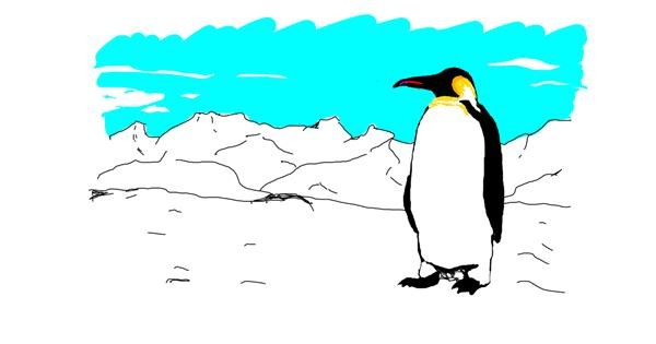 Penguin drawing by Emmsies