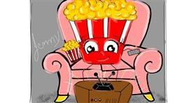 Drawing of Popcorn by Jennifreis