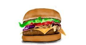 Burger drawing by JSim