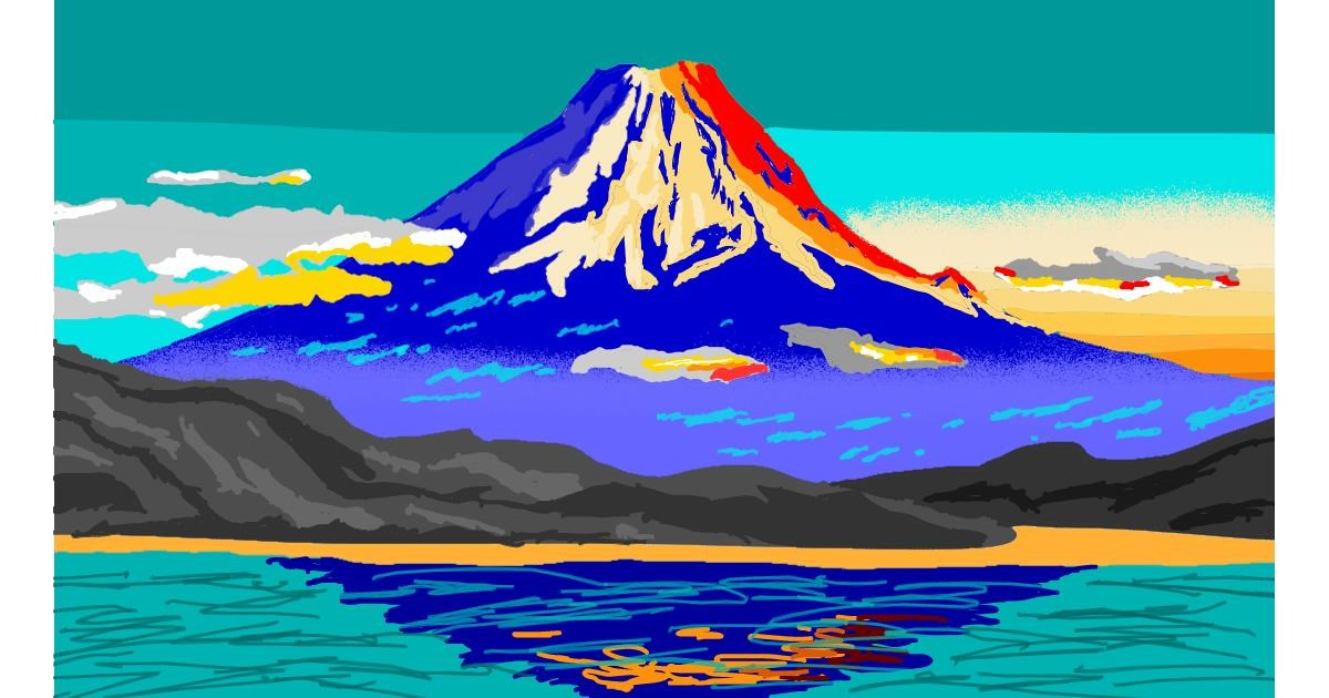 Drawing of Mountain by Sam