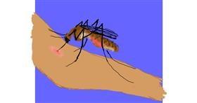 Mosquito drawing by Cherri