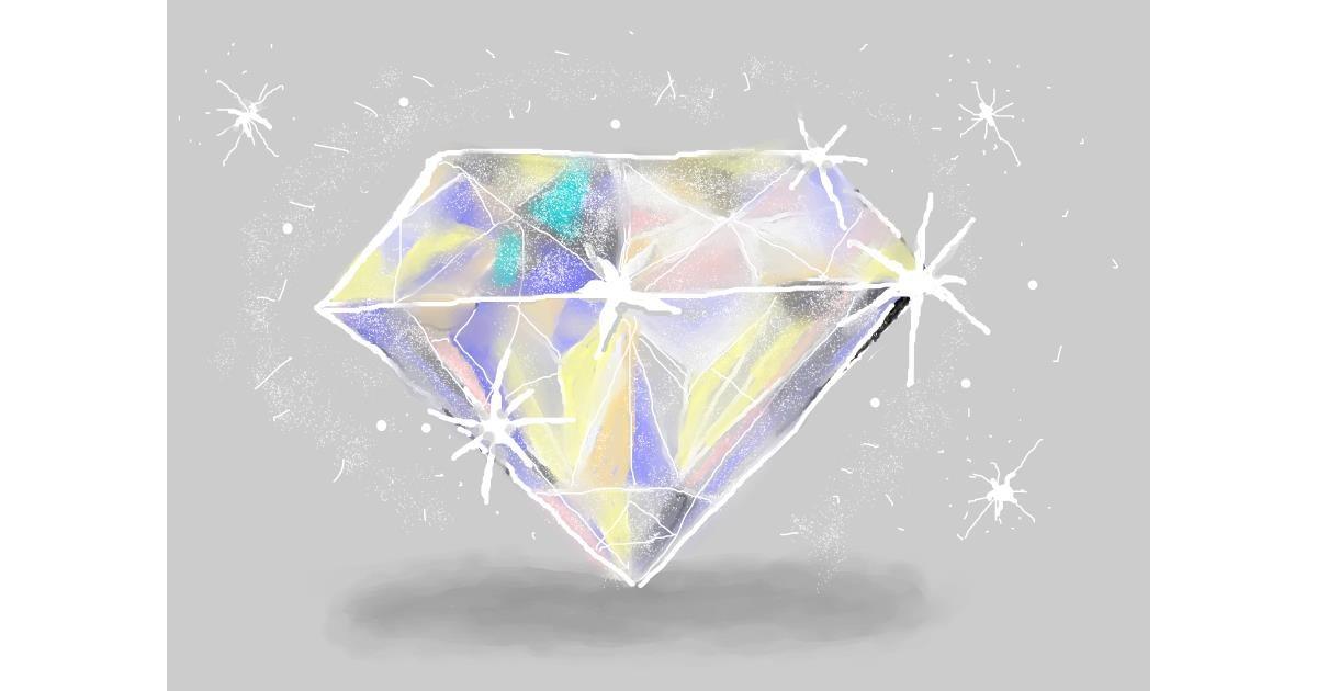 Diamond drawing by Debidolittle