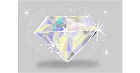 Diamond drawing by Debidolittle