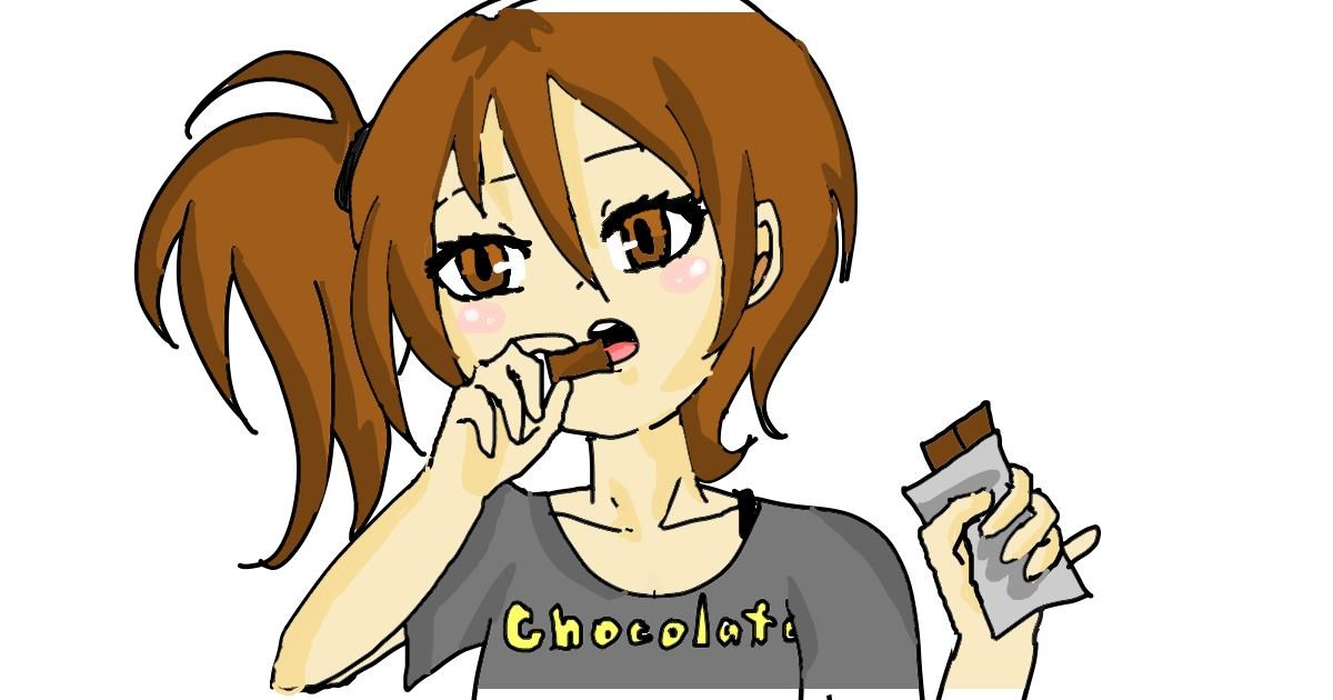 Chocolate drawing by Acorn
