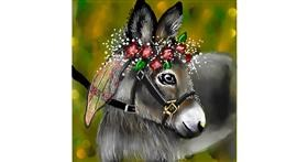 Drawing of Donkey by Leah