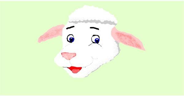 Sheep drawing by DrawStar
