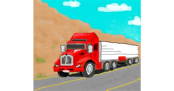 Truck drawing by Zz