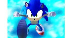 Drawing of Sonic the hedgehog by Wizard