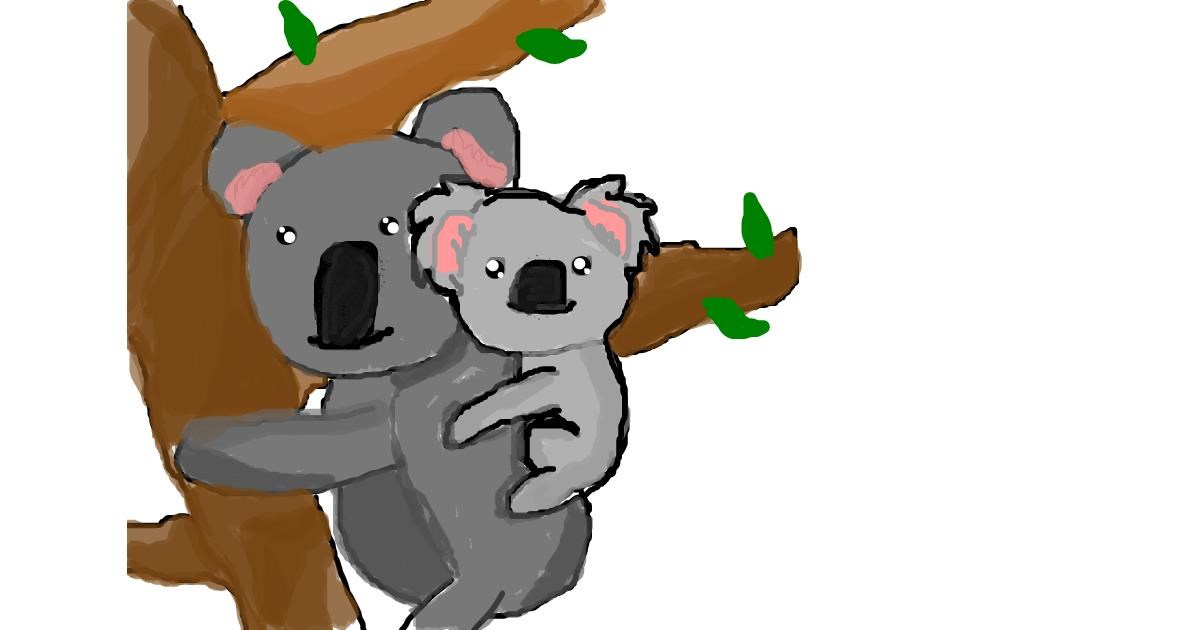 Drawing of Koala by ooooof👻👻👻