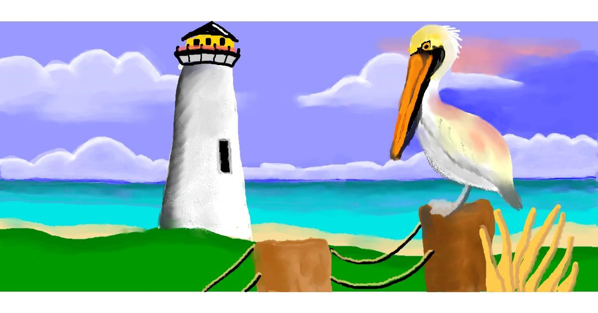 Drawing of Lighthouse by Debidolittle