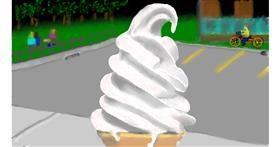 Drawing of Ice cream by SAM AKA MARGARET 🙄